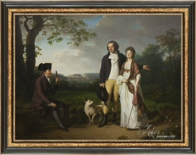 Niels Ryberg, with his Son Johan and Daughter-in-Law Engelke