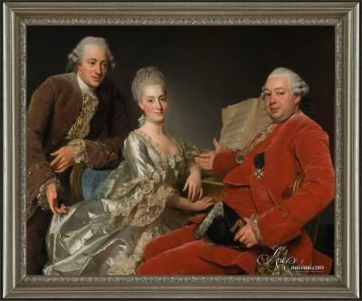 Whimsical Group Portrait, after Alexander Roslin