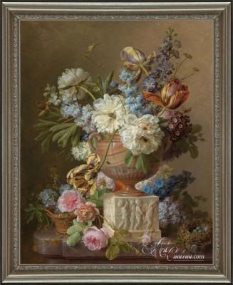 Variety of Flowers in a Terracotta Vase, after Albertus Jonas Brandt