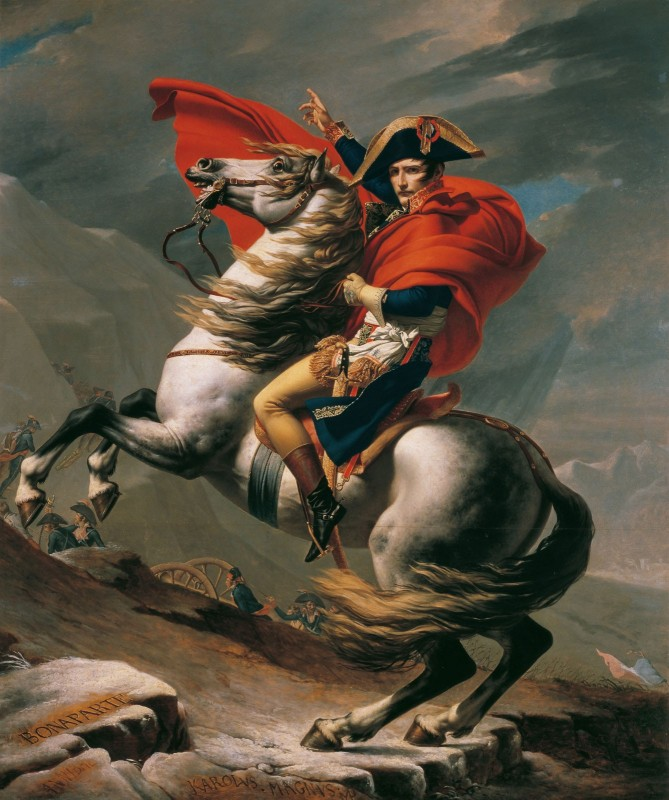 Napoleon Crossing the Alps, c.1801, Oil on Canvas