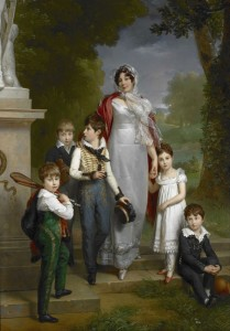 Louise Antoinette Guéhéneu and Children, c.1827, Oil on Canvas