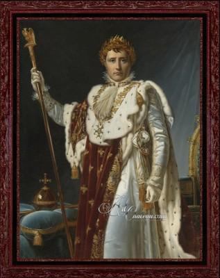 Neoclassical Portrait of Napoleon in Coronation Robes
