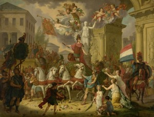 Allegory of the Triumphal Procession of the Prince of Orange, c.1815, Oil on Canvas