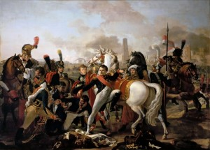 Napoleon Wounded Before Ratisbon, April 23, 1809, Oil on Canvas