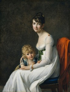 Madame Jeanne Mourgue and Her Son, Eugène, c.1802, Oil on Canvas