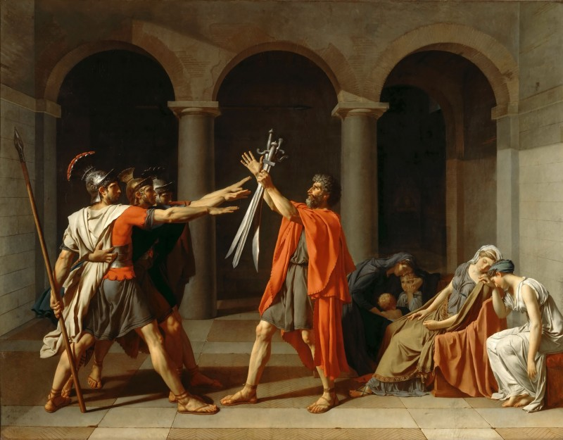 The Oath of the Horatii, c.1784, Oil on Canvas