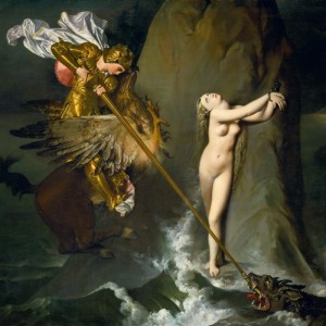 Ruggiero Rescuing Angelica, c.1819, Oil on Canvas