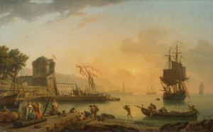 A Grand View of the Sea Shore with Ships and Figures, c.1775, Oil on Canvas