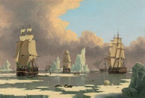 The Northern Whale Fishery - The Swan and Isabella, c.1840, Oil on Canvas