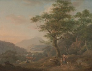 A Landscape with Figures, c.1798, Oil on Canvas