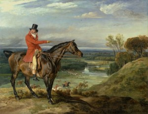 John Levett Hunting at Wychnor, Staffordshire, c.1840, Oil on Canvas