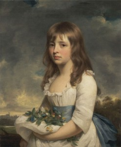 Portrait of a Young Flower Girl, c.1790, Oil on Canvas