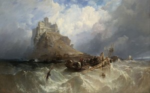 Mount St. Michael, Cornwall, c.1830, Oil on Canvas