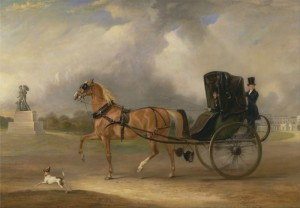 William Massey-Stanley driving his Cabriolet in Hyde Park, c.1833, Oil on Canvas