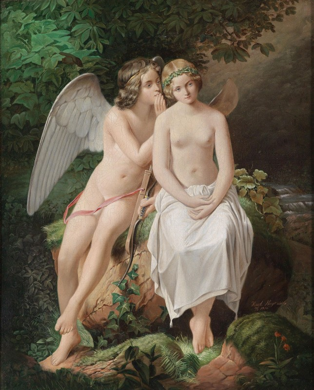 Cupid and Psyche, c.1875, Oil on Canvas