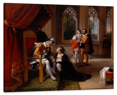 Inês de Castro with Children at the Feet of Afonso IV, King of Portugal, Seeking Clemency for Her Husband, Don Pedro, c.1810, Oil on Canvas