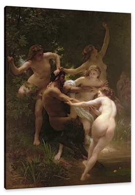 Nymphs and Satyr, c.1873, Oil on Canvas