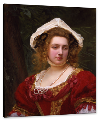 Girl with Red Dress, c.1880, Oil on Canvas