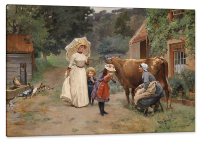 Visit to the Farm, c.1888, Oil on Canvas