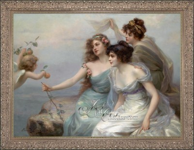 The Three Graces, after Painting by Edouard Bisson