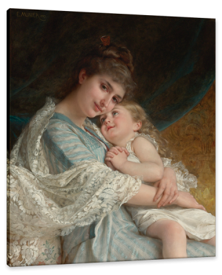 A Tender Embrace, c.1887, Oil on Canvas