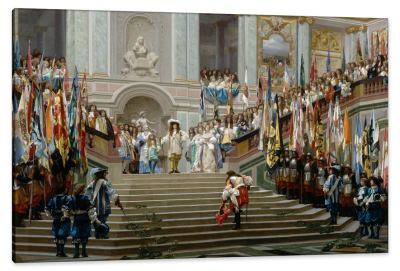 Reception of Condé in Versailles, c.1878, Oil on Canvas