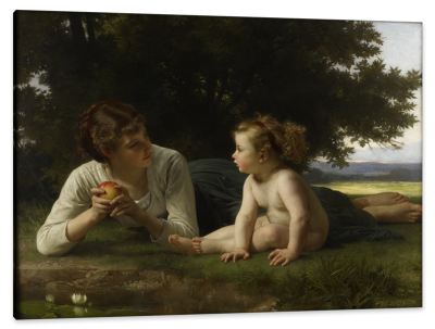 Gaze of Mother and Child, c.1880, Oil on Canvas