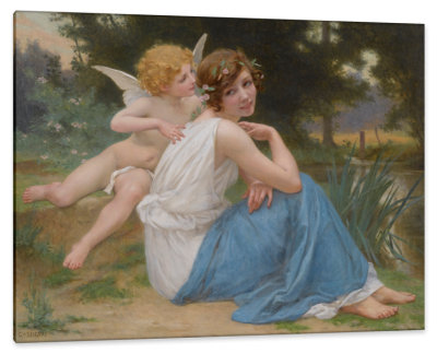 Cupid and Psyche, c.1914, Oil on Canvas