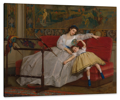 Mother with Her Young Daughter, c.1865, Oil on Canvas