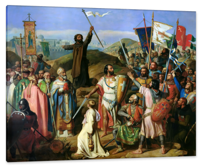 Procession of Crusaders around Jerusalem, July 14, 1099, c.1840, Oil on Canvas