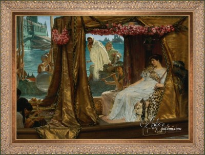 The Meeting of Anthony and Cleopatra, after Sir Lawrence Alma-Tadema