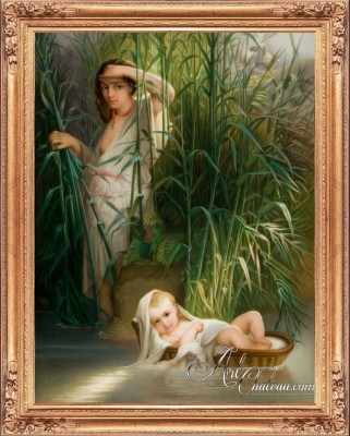 Moses in the Brush, after Painting by Elizabeth Bouguereau