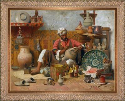 The Moorish Potter, Tangiers, after Jean Discart