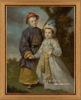 Children in Eastern Costumes, after Tilly Kettle