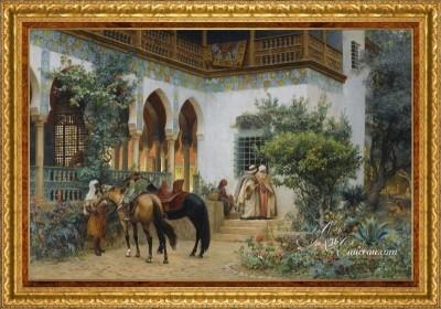 North African Courtyard, after Frederick Arthur Bridgman