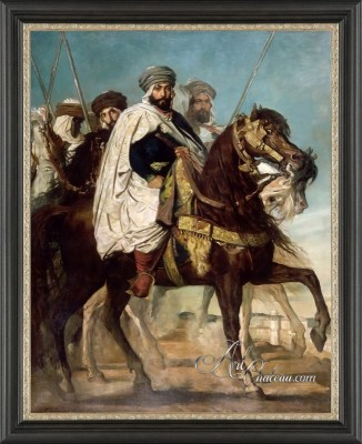 The Caliph of Constantine, Ali Ben Hamet, Chief Harakas, followed by his escort