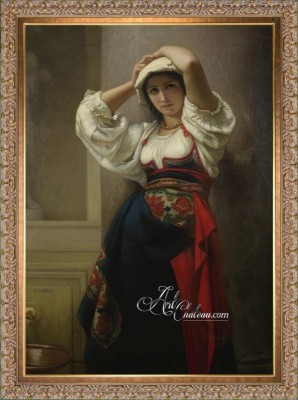 Italienne, after Painting by Charles Landelle