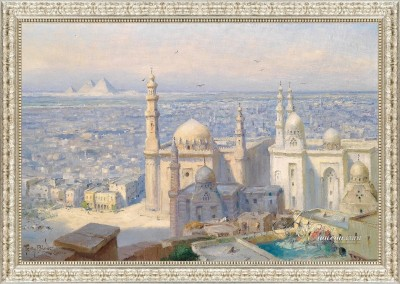 A View of Cairo, after painting by Tony Binder