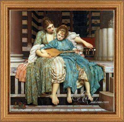 The Music Lesson, after Frederic Lord Leighton