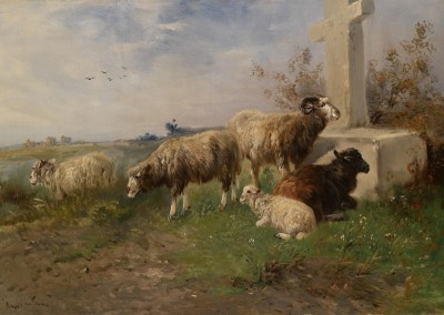 Meadow Sheep, c.1910, Oil on Canvas