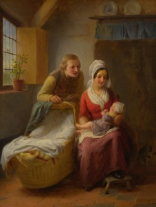 Firstborn, c.1882 Oil on Panel
