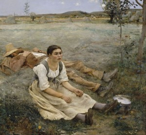 Haymaking, c.1877, Oil on Canvas