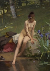 The Little Shepherdess, c.1892, Oil on Canvas