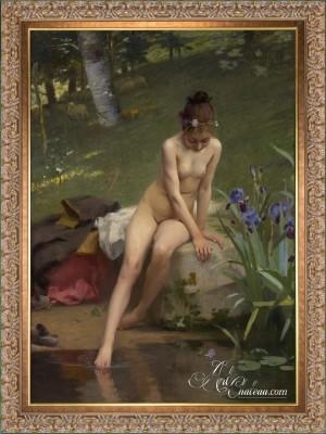 The Little Shepherdess, after Paul Peel