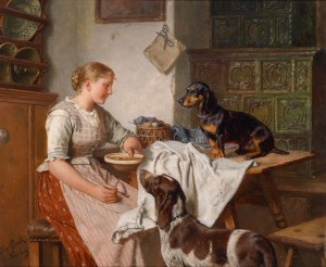 Hungry Companions, c.1895, Oil on Canvas