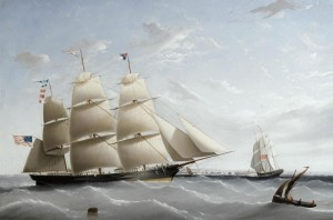 The Clipper, Empress of the Seas, c.1854, Oil on Canvas