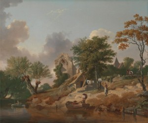 View on the Medway, c.1776, Oil on Canvas