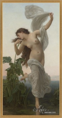 Le Jour, a Mixed Media Painting after William Bouguereau