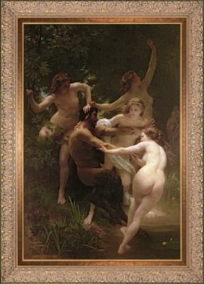 Nymphs and Satyr, after William Adolphe Bouguereau