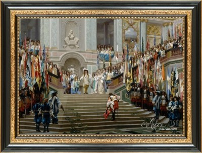 Reception in Versailles by Louis XVI, after Jean-Leon Gerome